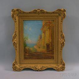 Walter Lofthouse Dean (American, 1854-1912)      Seaside Scene, Possibly San Juan.