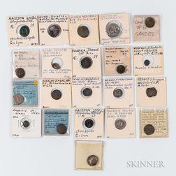Twenty-one Mostly Ancient Greek Coins