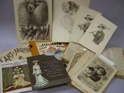 19th and Early 20th Century Periodicals, a Scrapbook, a Scrapbook of Fashion Prints, Etc.