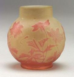 Galle Cameo Art Glass Vase