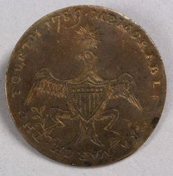 George Washington Brass Inaugural Button