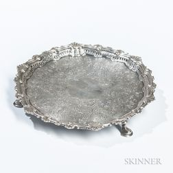 George II Irish Silver Card Tray