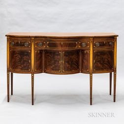 Federal-style Mahogany-inlaid Serpentine Sideboard