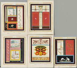 Giacomo Lenghi (Italian, 19th Century)      Ten Plates from Pompeii