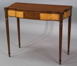 Federal Mahogany and Bird's-eye Maple Veneer Card Table
