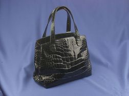 Black Alligator Hand Bag, Judith Leiber