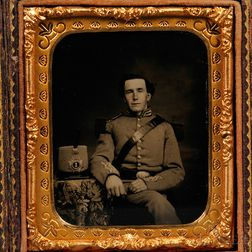 Sixth-plate Ambrotype Portrait of a Soldier in a Militia Uniform