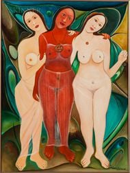 Fritzner Alphonse (Haitian, 1938-2006)    Three Muses