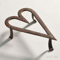Wrought Iron Heart-shaped Trivet