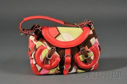 Canvas and Leather Handbag, Emilio Pucci