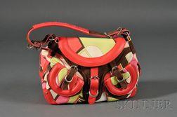 Canvas and Leather Handbag, Emilio Pucci