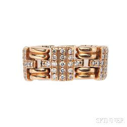 18kt Gold and Diamond Ring, Bulgari