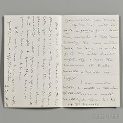 Alcott, Louisa May (1832-1888) Autograph Letter Signed, Undated.