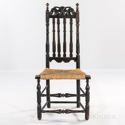 Black-painted Bannister-back Chair