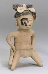 Pre-Columbian Pottery Warrior Figure