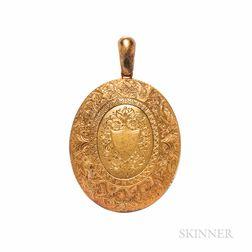 Victorian 15kt Gold Locket