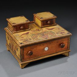 Fancy Paint-decorated Lady's Sewing Box