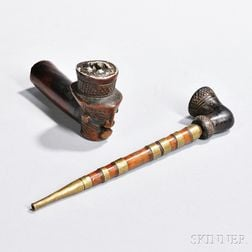 Two African Pipes