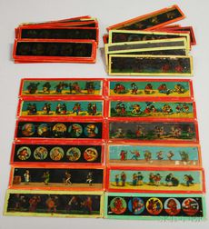 Thirty-one German Hand-colored Glass Magic Lantern Slides