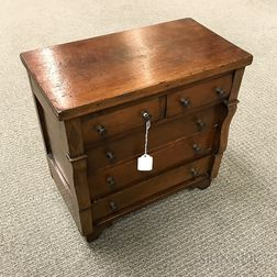 Miniature Empire Mahogany Chest