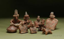 Nine Pre-Columbian Pottery Items