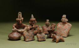 Nine Pre-Columbian Pottery Items