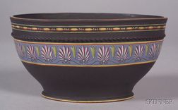 Wedgwood Encaustic Decorated Black Basalt Bowl