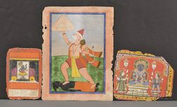 Lot of Three Miniature Paintings
