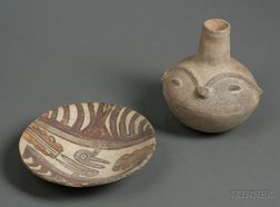 Two Pre-Columbian Pottery Vessels