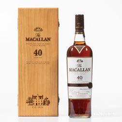 Macallan 40 Years Old, 1 750ml bottle (owc)