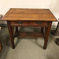 Stickley Arts and Crafts Oak Desk