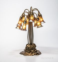 Tiffany Studios Ten-light Bronze