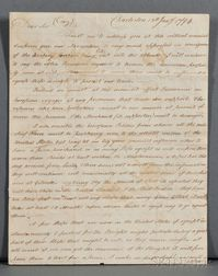 Barbary Pirates, Letter, 13 January 1794.