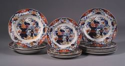 Thirteen Imari  Decorated Earthenware Tableware Items
