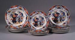 Thirteen Imari  Decorated Earthenware Tableware Items