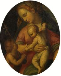 Italian School, 16th Century Style    The Madonna and Child with Saint John the Baptist