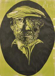 Leonard Baskin (American, 1922-2000)      Leonard Baskin Aet 42