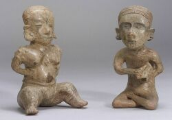 Two Pre-Columbian Pottery Figures