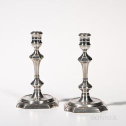 Pair of George II Sterling Silver Candlesticks