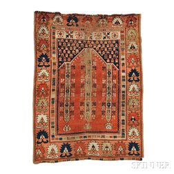 West Anatolian Prayer Rug