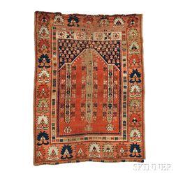 West Anatolian Prayer Rug