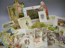 Group of Assorted Chromolithograph Items