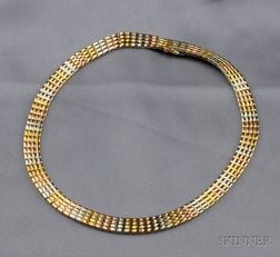 18kt Tricolor Gold Necklace, Van Cleef & Arpels