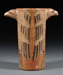 Polychrome Effigy Vessel