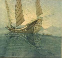 John Taylor Arms (American, 1887-1953)  Where the Junk Sails Lift