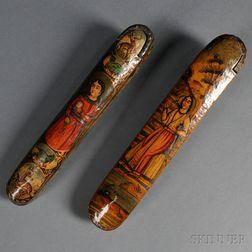 Two Persian Pen Boxes, Qalamdan