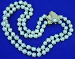 Double Strand of Baroque Pearls.