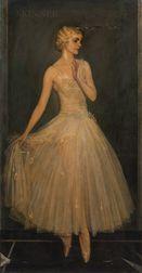 Abram Poole (American, 1882-1961)      Portrait of Harriet Hoctor En Pointe