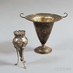 Two Silver Vases