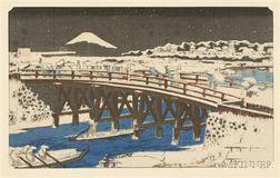 Hiroshige: Nihonbashi in Snow